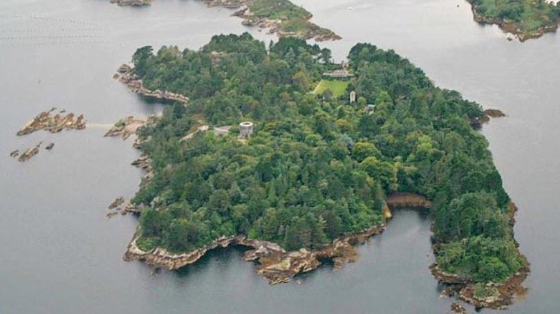 Garinish Garden Island view from a plane